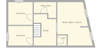 Plan appartement coquelicots